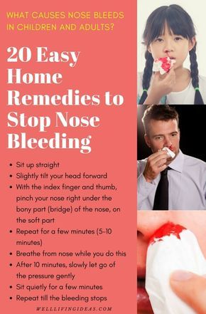 Cause for nose bleeds in adults