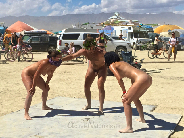 Public nudity at burning man