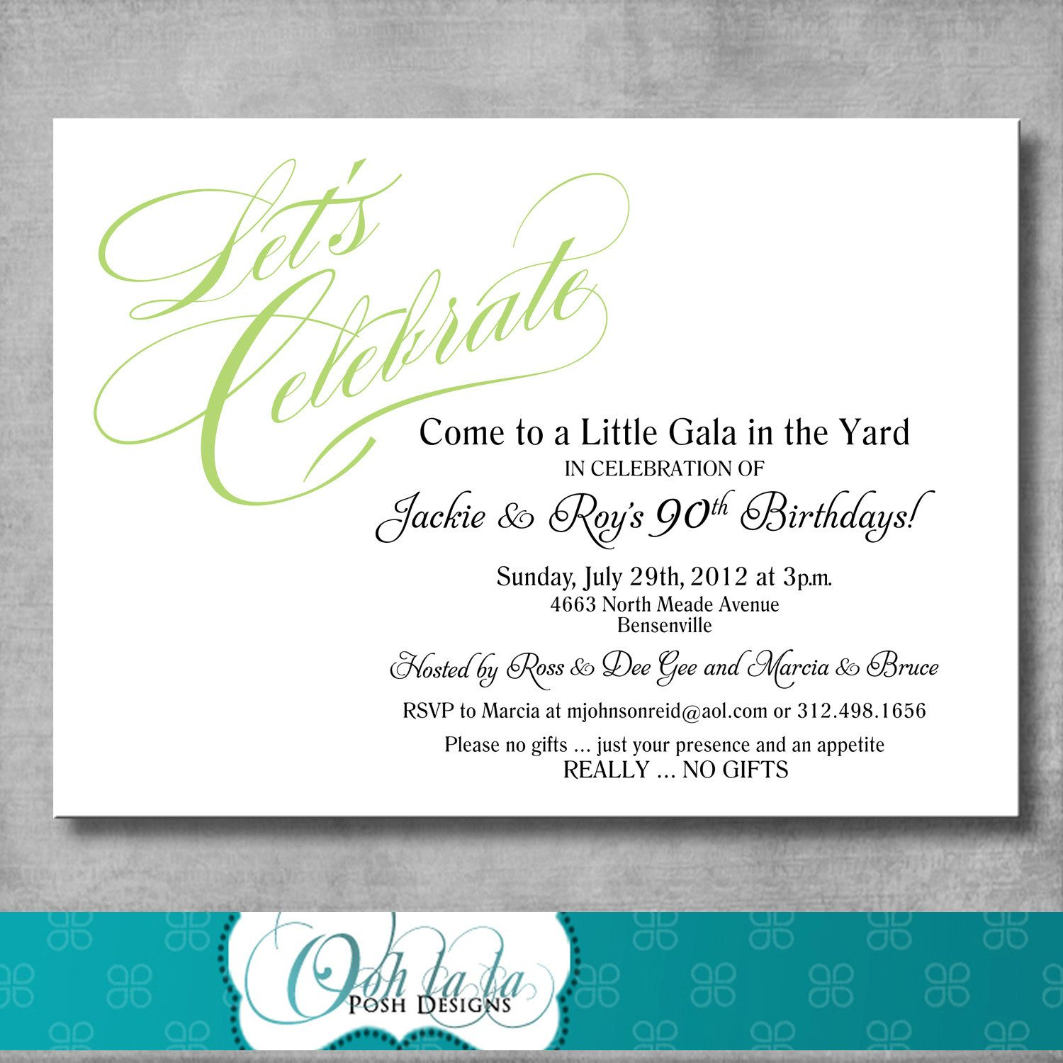 Birthday invitation party wording adult
