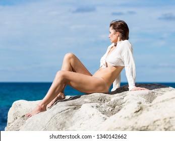 Bottomless nude girls at beach
