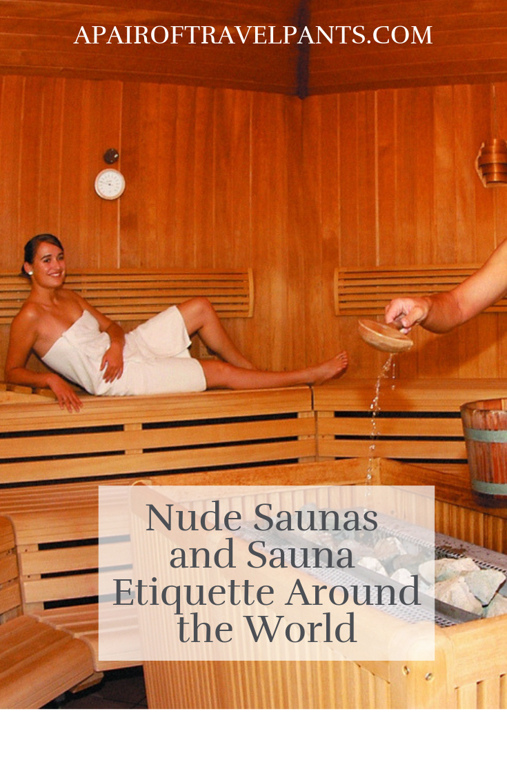 Pure family nudists sauna