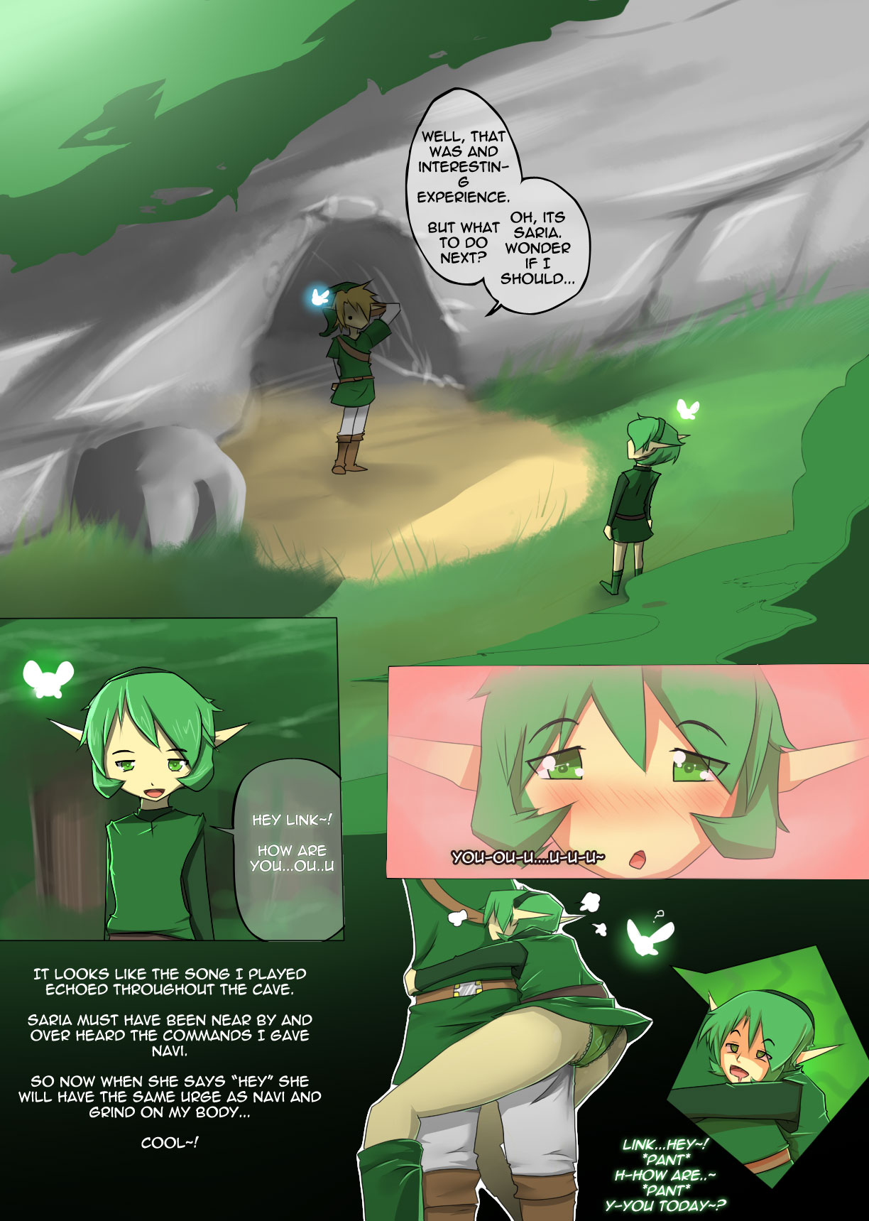 Link legend of zelda saria hentai comic