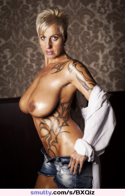 Mature milf big tits tattoo
