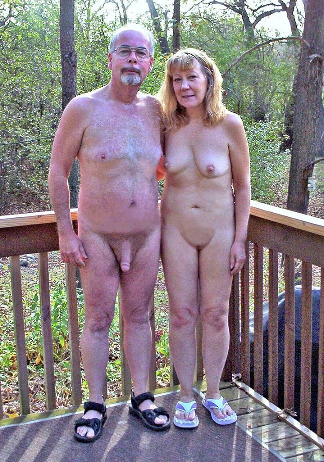 Naked grandma and grandpa