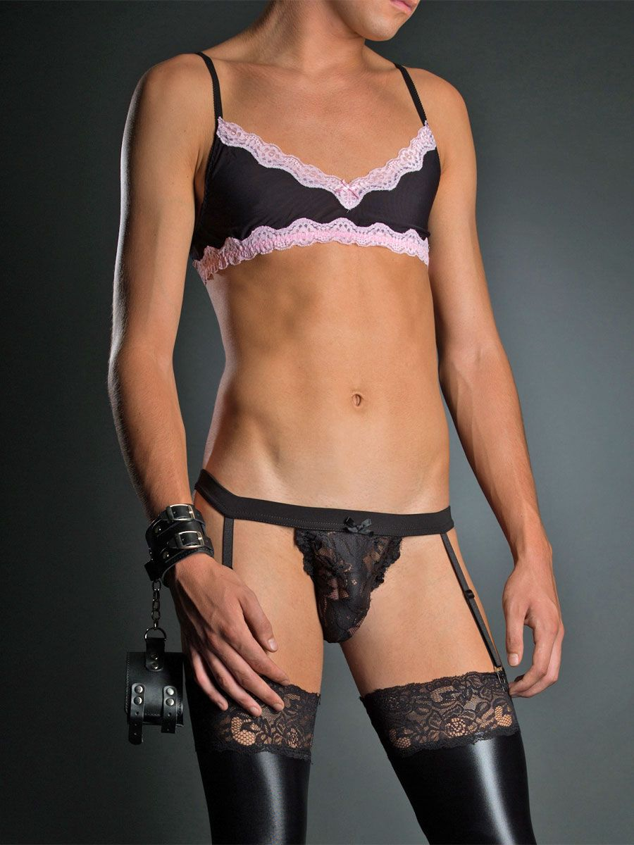 Sexy panties men wearing lingerie