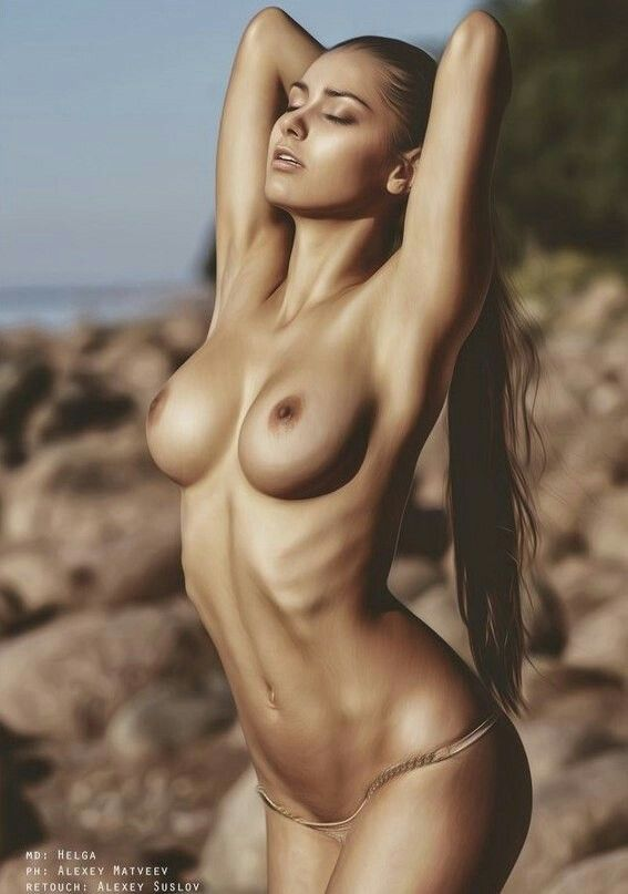 Naked nude sexy woman