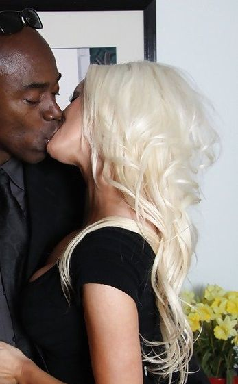 Girl blacks blondes on interracial white
