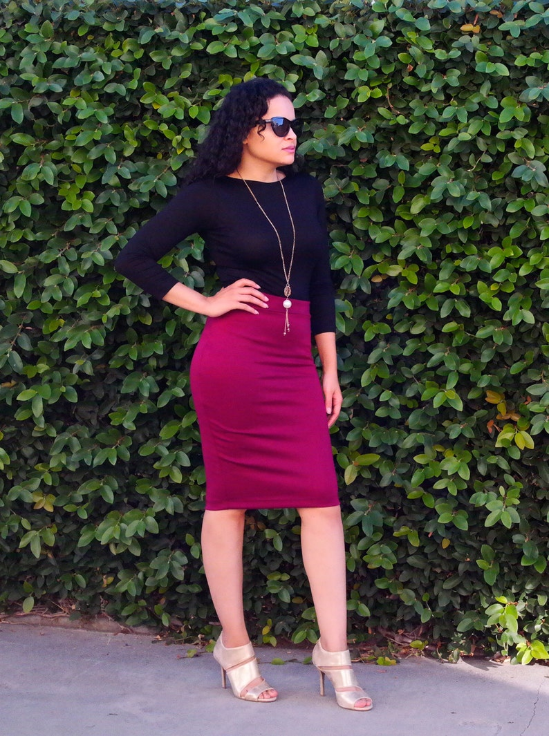 Pencil skirt heels tight and