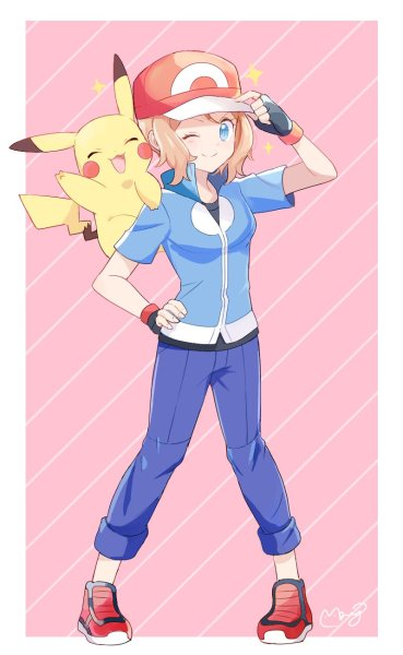 Nu serena fan pokemon art